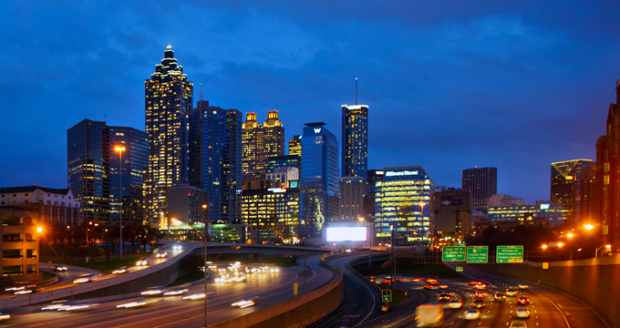 Atlanta, skyline, night, Georgia State Law, LL.M. Program