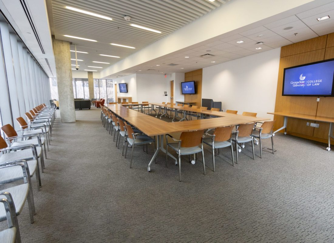 Faculty Commons in box setup style