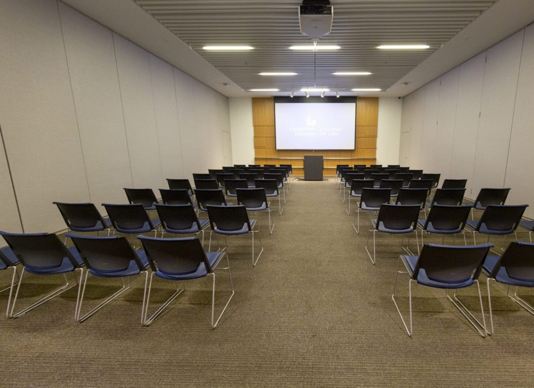 Knowles Conference Center Salon in lecture/classroom style